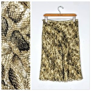 Talbots Silk Skirt